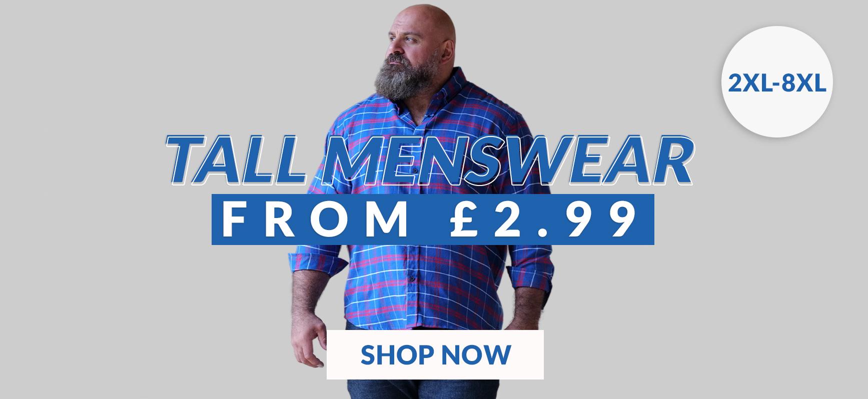 Shop Tall Menswear